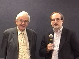 Dr. Graham Harding (on the left) standing side by side with Dr. Gregg Vanderheiden (on the right)